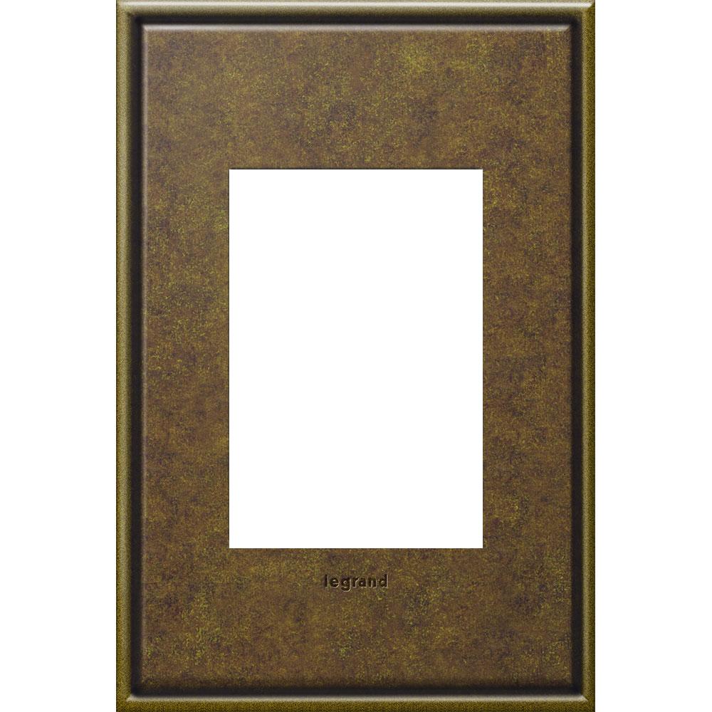Pass & Seymour AWC1G3-AB4 1-Gang 3-Module Wall Plate - Aged Brass