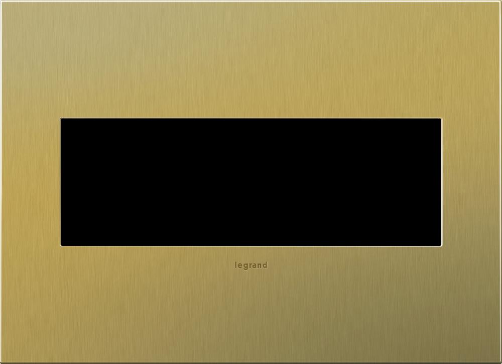 Pass & Seymour AWC3G-BB4 3-Gang 2-Module Wall Plate - Brushed Brass