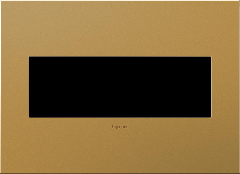 Pass & Seymour AWC3G-SB4 3-Gang 2-Module Wall Plate - Satin Bronze