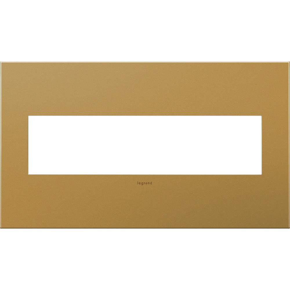 Pass & Seymour AWC4G-SB4 4-Gang 2-Module Wall Plate - Satin Bronze