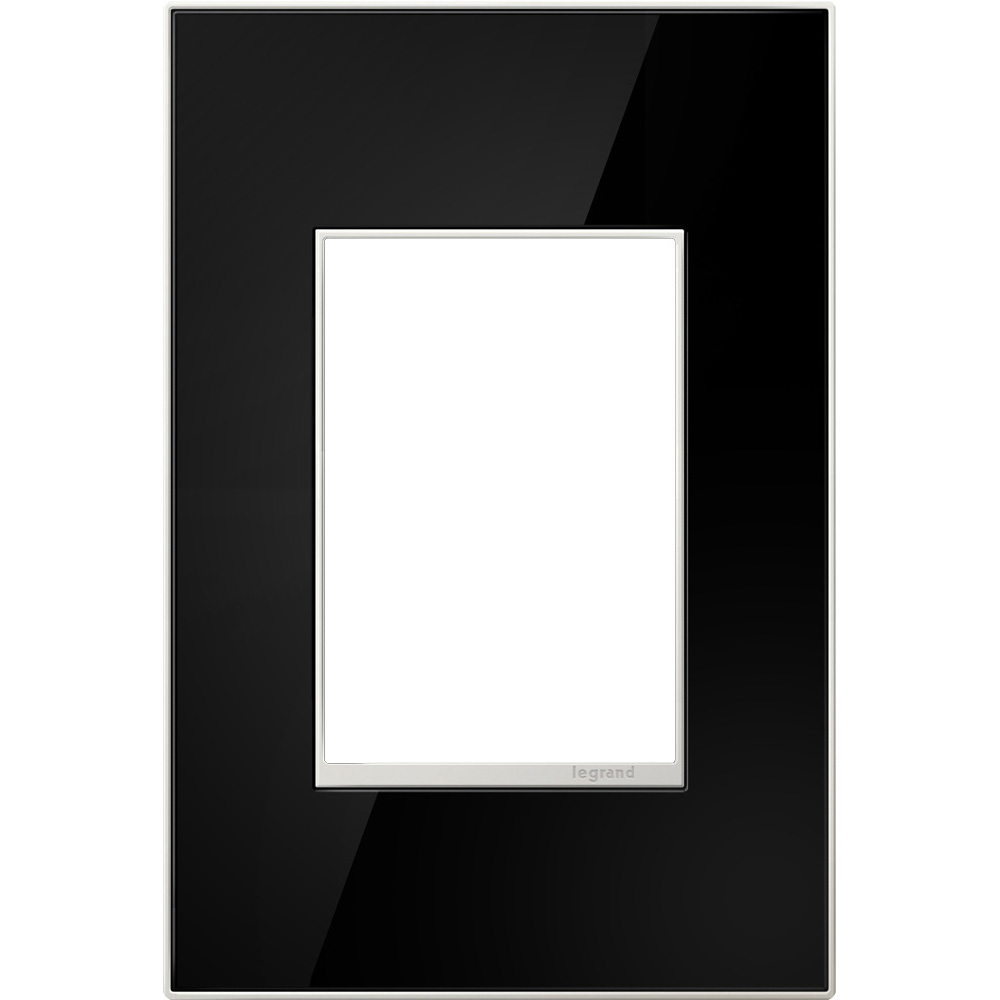 Pass & Seymour AWM1G2-MB4 1-Gang 2-Module Wall Plate - Mirror Black