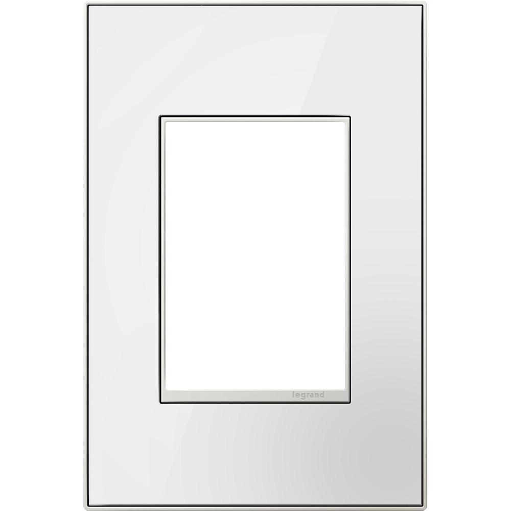 Pass & Seymour AWM1G2-MW4 1-Gang 2-Module Wall Plate - Mirror White