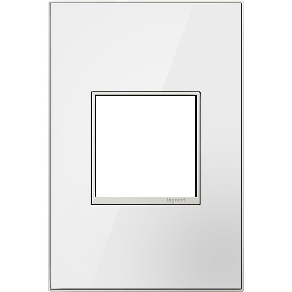 Pass & Seymour AWM-1G2MWW4 1-Gang 2-Module Wall Plate - Mirror White