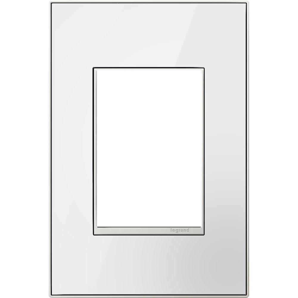 Pass & Seymour AWM1G3-MW4 1-Gang 3-Module Wall Plate - Mirror White