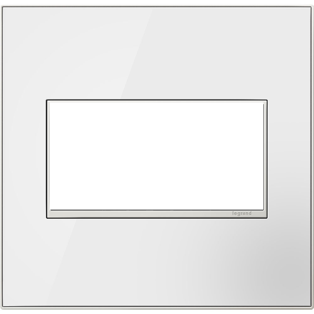 Pass & Seymour AWM-2GMWW4 2-Gang 2-Module Wall Plate - Mirror White on White