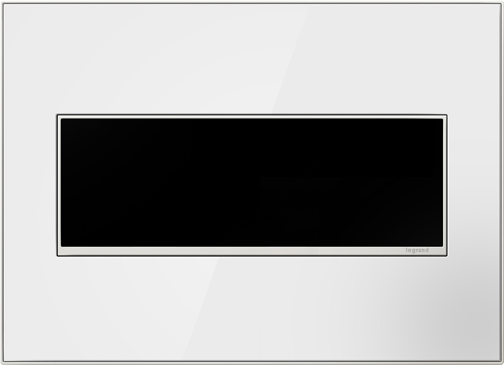 Pass & Seymour AWM3G-MW4 3-Gang 2-Module Wall Plate - Mirror White