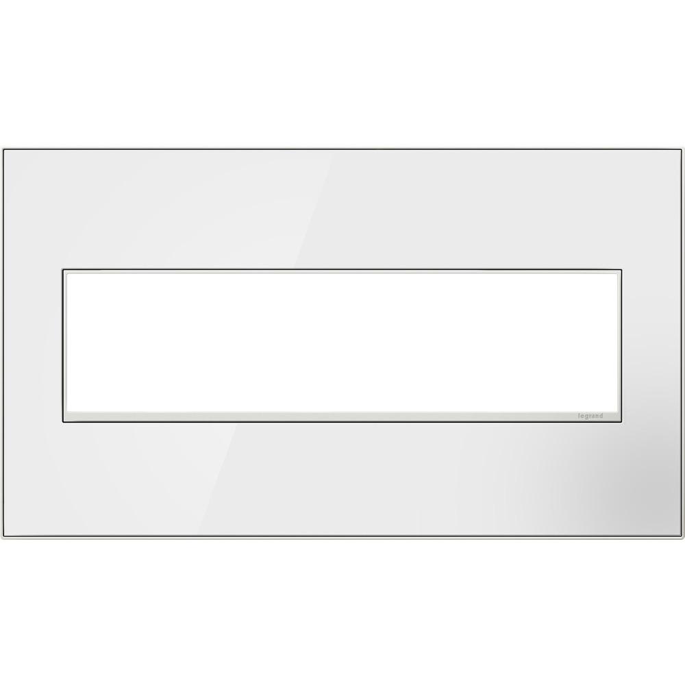 Pass & Seymour AWM4G-MW4 4-Gang 2-Module Wall Plate - Mirror White