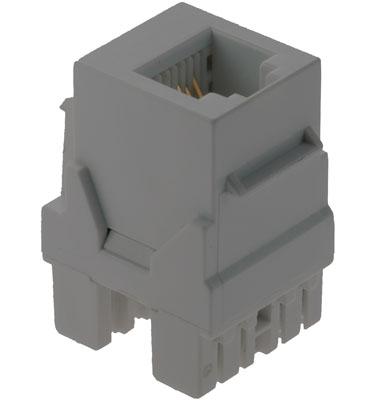 Legrand® Adorne® ACRJ25M1 Horizontal Telephone Keystone Insert, RJ-25 Connector, Surface Mount, Magnesium