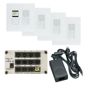 IC7400WH P&S SELECTIVE CALL 4 LOC RADIANT KIT WH