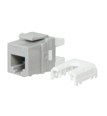 WP3473-GY P&S QC RJ25 6 POS/6 COND TEL INSERT, GY