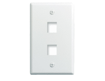 P&S WP3402-WH-10 10PK 1 GANG WALL PLATE 2-PORT WHITE (PRICED PER PACK OF 10) QTY 1 GETS PACK OF 10
