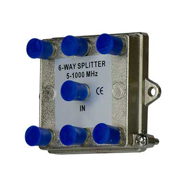 P&S VM0106 6 WAY 1GHZ SPLITTER