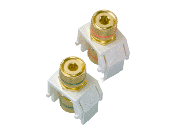 P&S WP3457-WH AUDIO BINDING POSTS L+R WH (M20)