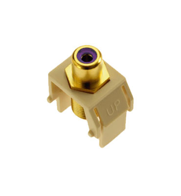 P&S WP3466-LA PURPLE RCA TO F-CONNECTOR LA (M20)