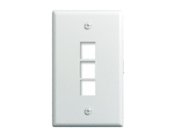 P&S WP3403-WH 1G WALL PLATE 3-PORT WH (M10)