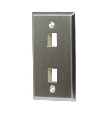 P&S WP3402-SS 1 GANG STAINLESS WALL PLATE 2-PORT