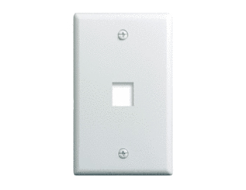 P&S WP3401-WH-10 10PK 1 GANG WALL PLATE 1-PORT WHITE (PRICED PER PACK OF 10) QTY 1 GETS A PACK OF 10