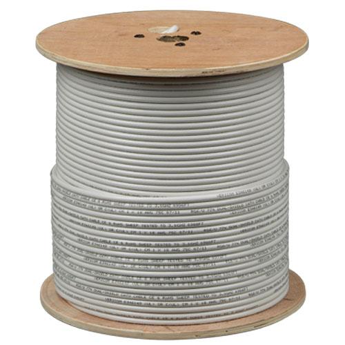 RG-6 CCS QS CM Coax Cable 1Kft Reel WHT