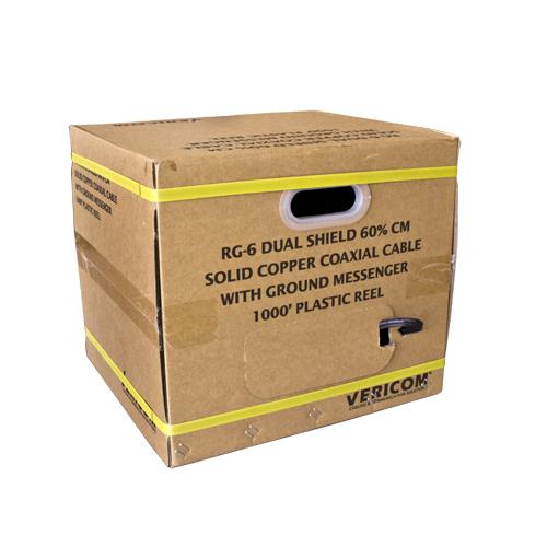 Dual RG6 BC DS 60 PCT CM Coax 500FT RIB