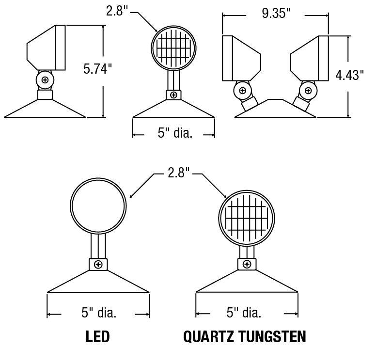 PAR18 6V TO 12V LED 3W C/W CANOPY