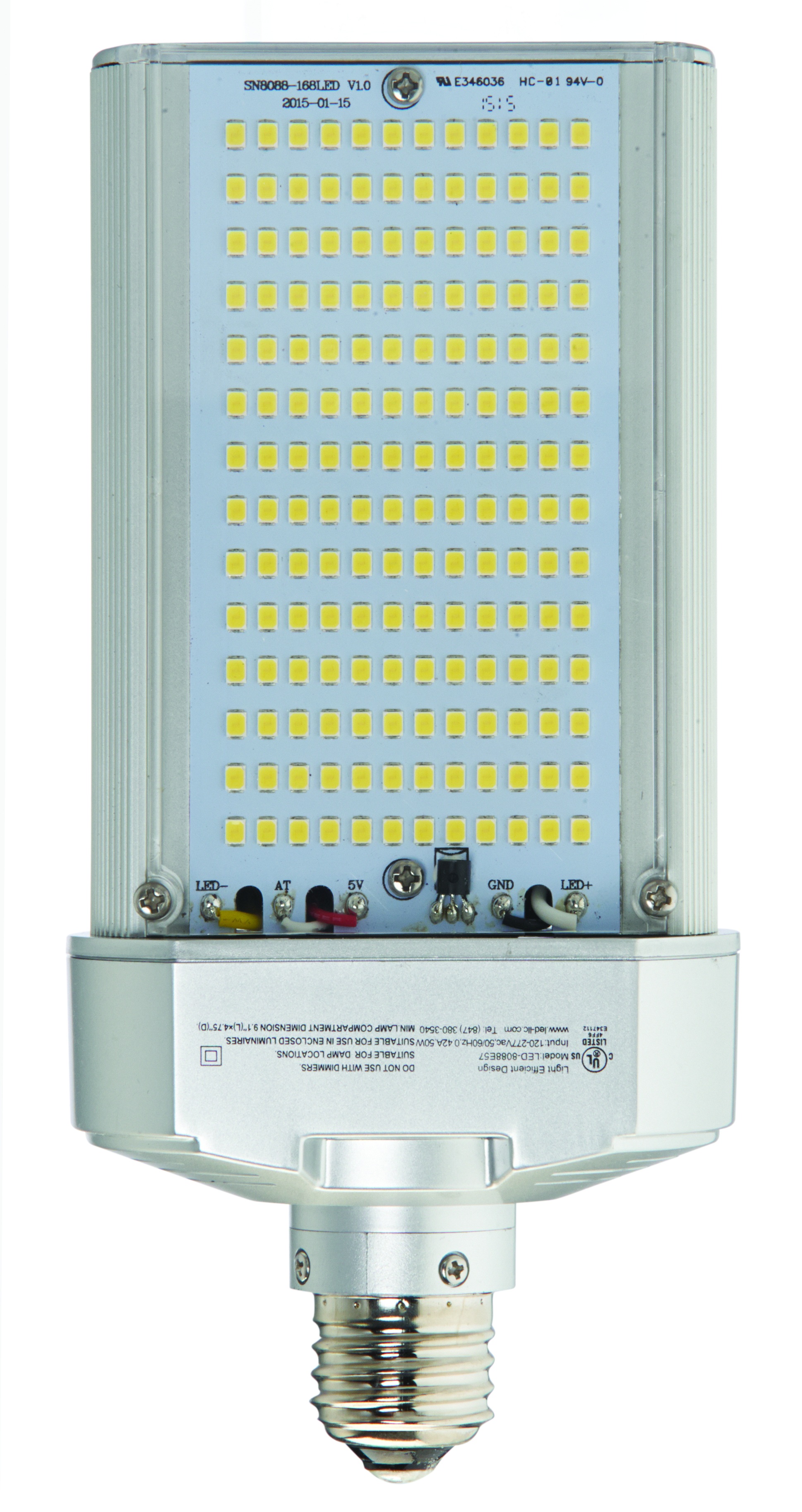 LED-8088E57 LED 50W LED WALL PACK RETROFIT 5700K E26
