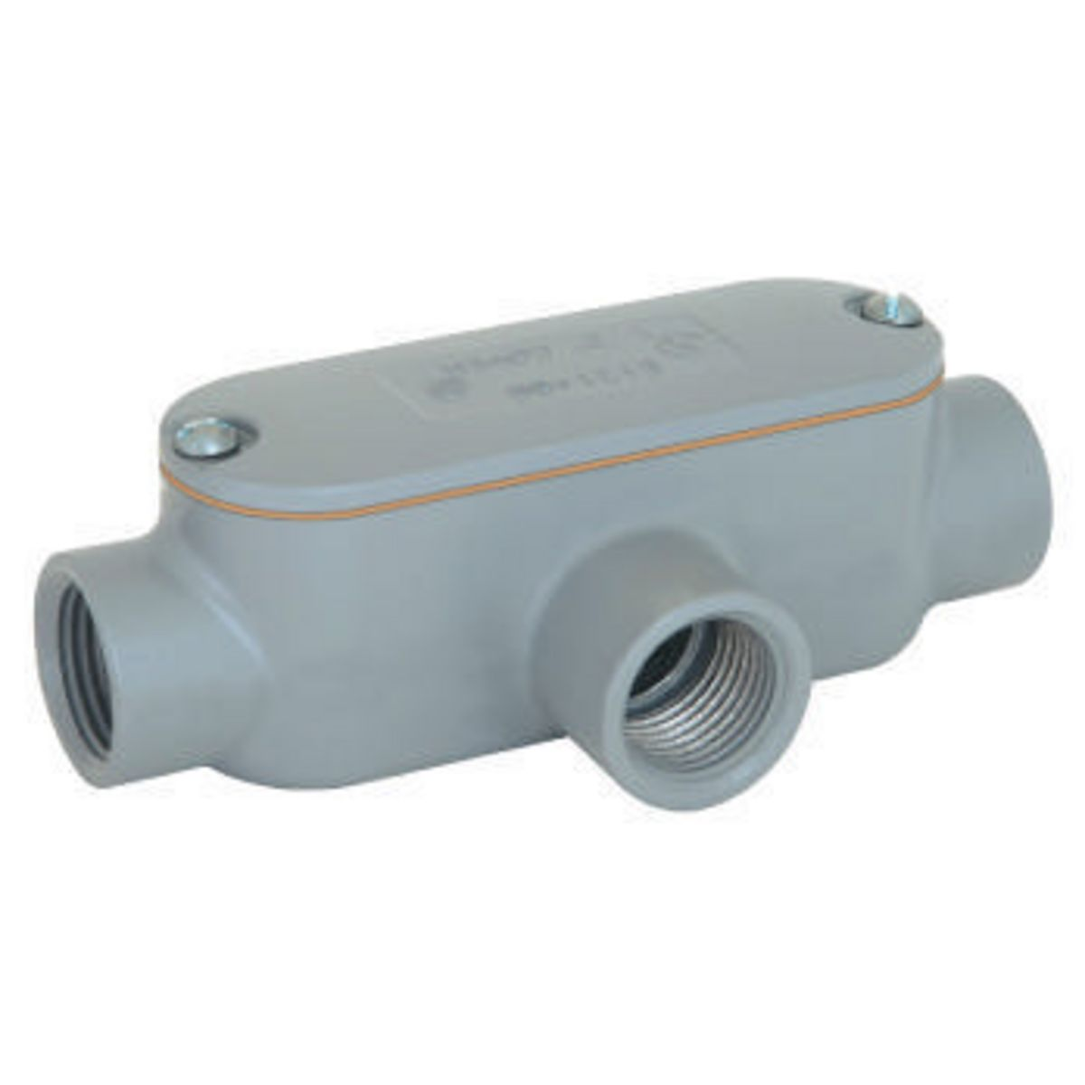 """KIL EAT-1CGN 1/2"""" inch T threaded conduit body, gasket & cover"""