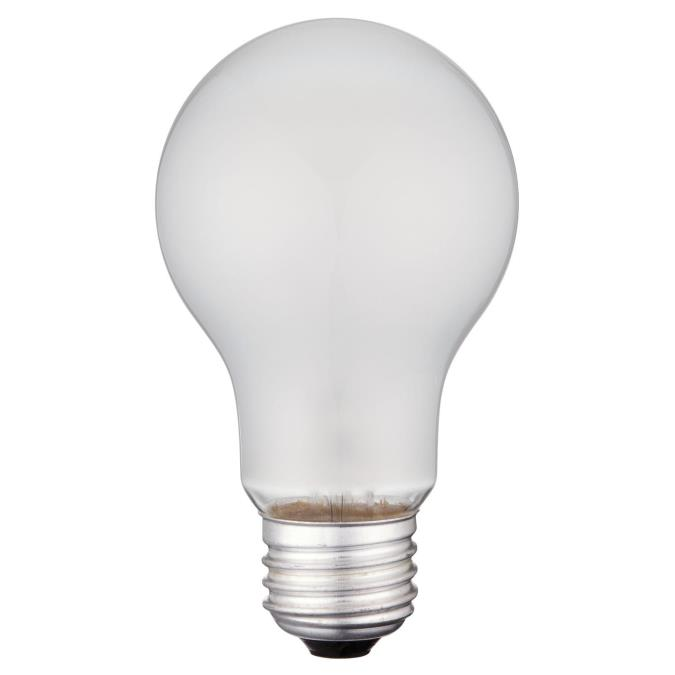 ABC 0410000 25W A19 INCANDESCENT FROST E26 (MEDIUM) BASE, 130V cs=120 formerly: SUP 60006 SOLD PER EACH