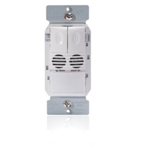 WS DW-200-W DUAL TECH. WALL SWITCH OCC. SENSOR, 2 RELAYS 120/277V, WHITE