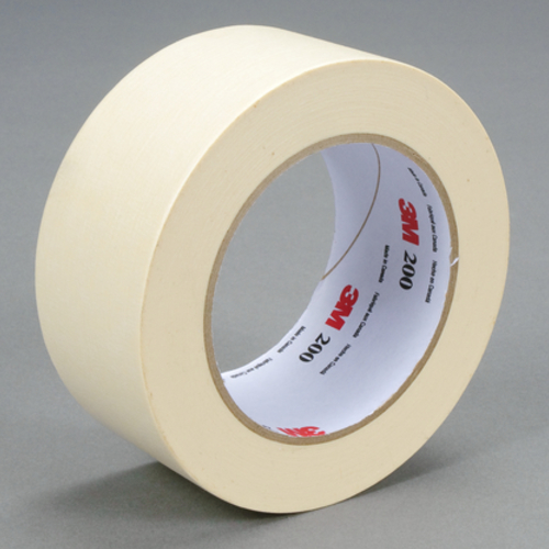 3M™ 048011-53466 Masking Tape, 55 m L x 48 mm W, 4.4 mil THK, Paper, Rubber Adhesive, Crepe Paper Backing