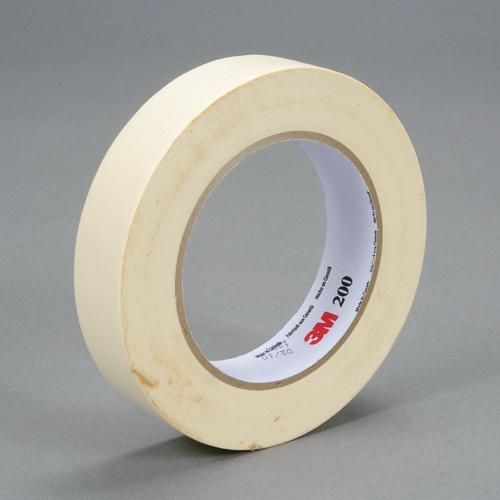 3M™ 048011-53465 Masking Tape, 55 m L x 24 mm W, 4.4 mil THK, Paper, Rubber Adhesive, Crepe Paper Backing