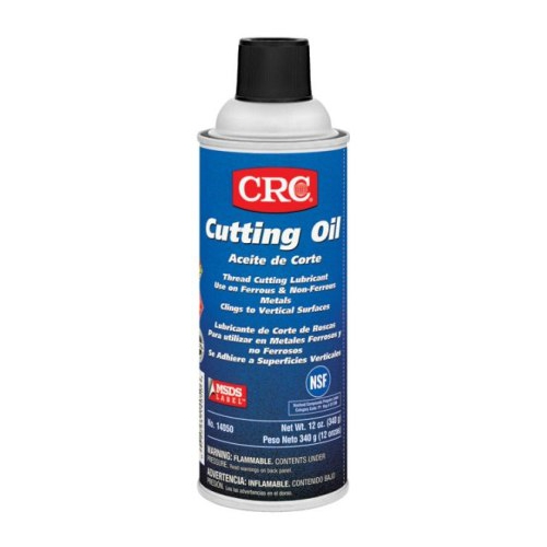 CRC,14050,CRC® 14050 Cutting Oil, 16 OZ Capacity, Aerosol Can Packing, VOC Content: 1.54 GPL, Liquid Form, Color: Brown, Faint Petroleum Odor/Scent, Temperature Range: 300 DEG F, Flash Point: 300 DEG F, Specific Gravity: 0.92