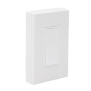 Leviton,WSS0S-P0W,LevNet RF™ WSS0S-P0W 1-Pole Self-Powered Wireless Remote Switch, 120/277 VAC, ON/OFF, White
