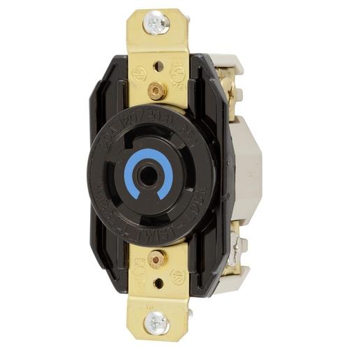 HUB HBL2810 LKG RCPT, 30A 3P 120/208V, L21-30R, BK