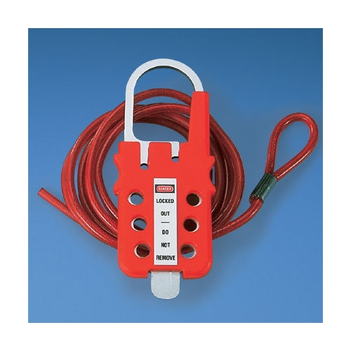Panduit,PSL-MLD,MULTI-LOCKOUT HASP W/6FT CABLE,RD,EA