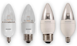 SYL LED6B13CBLUNTDIM827G2RP LED TORPEDO LAMP - CAND BASE - 350 LUMENS - 2700K - 15K HR RATED